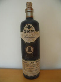 Vintage 1972 empty Black Tower bottle complete with cork. £8 ovno.