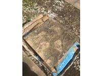 """Used 450mm 18"""" square riven patio/paving slab. Most are approx 38mm deep. Ready in Witney Oxon £1 ea"""