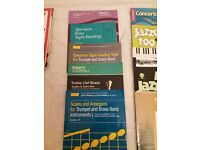 Trumpet music books - intermediate, including scales and sight reading