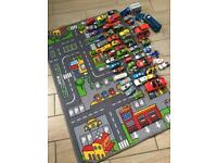 Car mat and 50+ cars