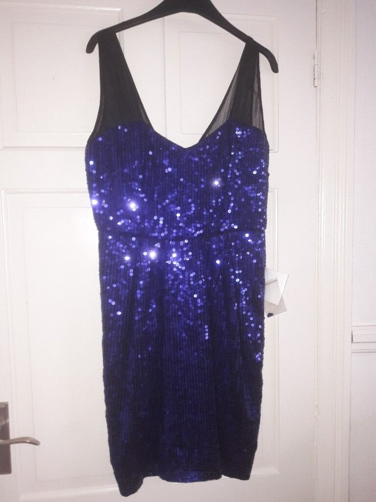 Purple sparkly Sequin Dress. Brand new with tags. Size 14.   in ...