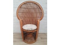 Vintage Wicker Peacock Chair (DELIVERY AVAILABLE FOR THIS ITEM OF FURNITURE)