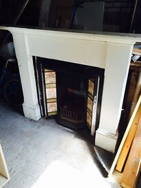 Antique Victorian Cast Iron Fireplace