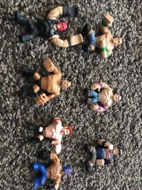 WWE wrestling mini figures