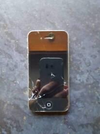 IPhone 4, cracked screen