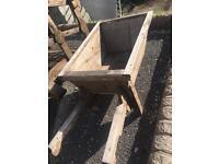 Lovely ornamental wooden wheel barrow works £30