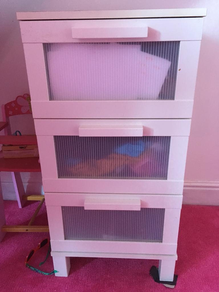 Ikea white drawer unit
