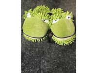 Brand new with tags green frog slippers