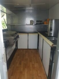 Trailer for sale has grill tea boiler, fridge and freezer please contact for any questions