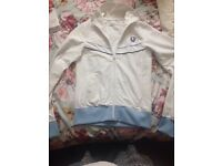 White and blue Fred Perry jacket