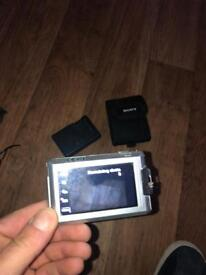 Sony camera with charger and carry case