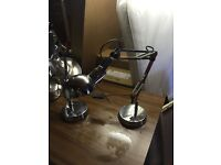 Pair of adjustable table lamps