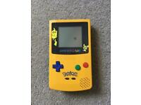 Limited edition yellow and blue game boy colour Pokemon Pikachu