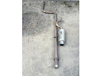 honda civic ek4 ej9 vti full stainless steel exhaust system de cat cobra sport