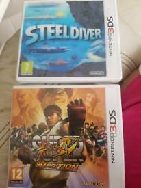 Nintendo 3ds Steel Diver + Super Street Fighter IV 3D Edition Games