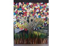 Original Hand Painted Button Tree