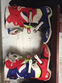 Motocross helmets and boots