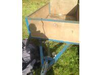 Twin axel 7ftx5ft light weight trailer