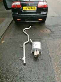 Saab 9-3 exhaust centre and tail pipe