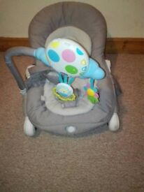 A Chicco baby bouncer