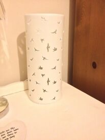 Ceramic bird lamp