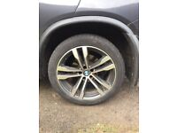 Genuine BMW X5 alloy wheels and tyres