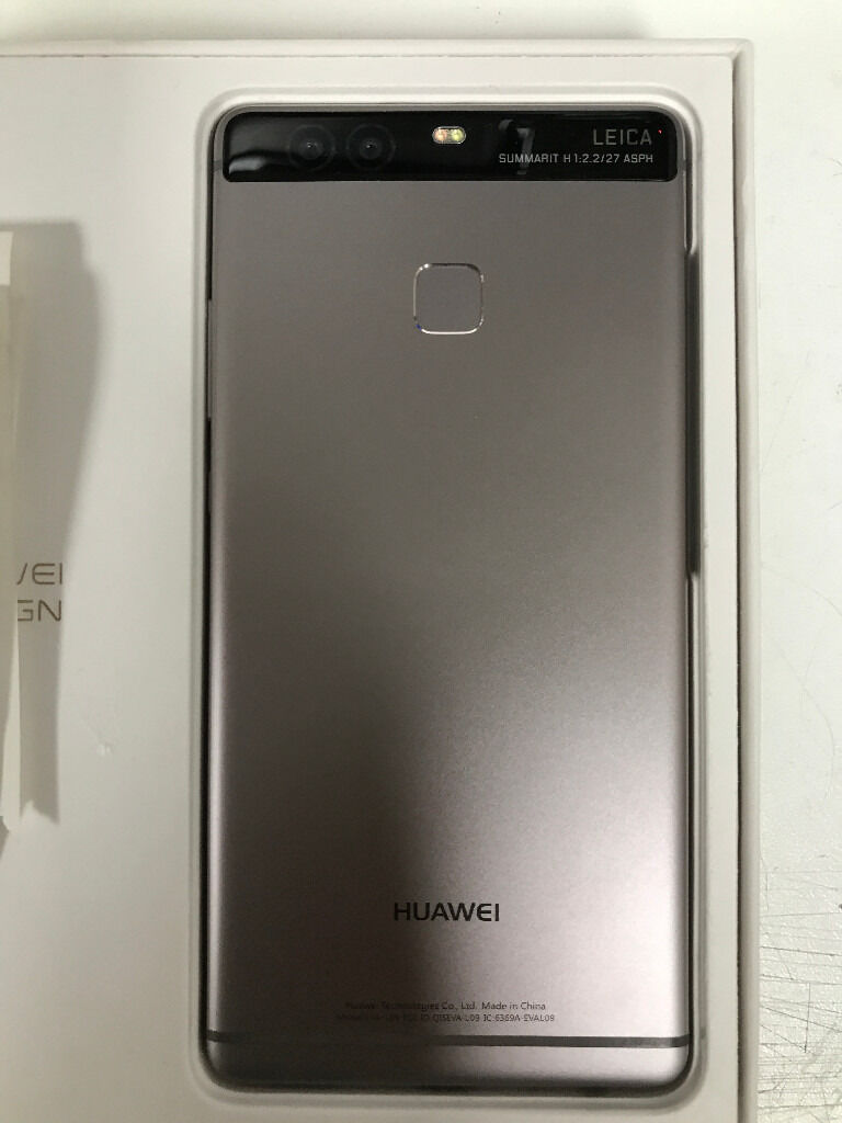huawei p9 with dual camera in grey fully boxed simfree one month old