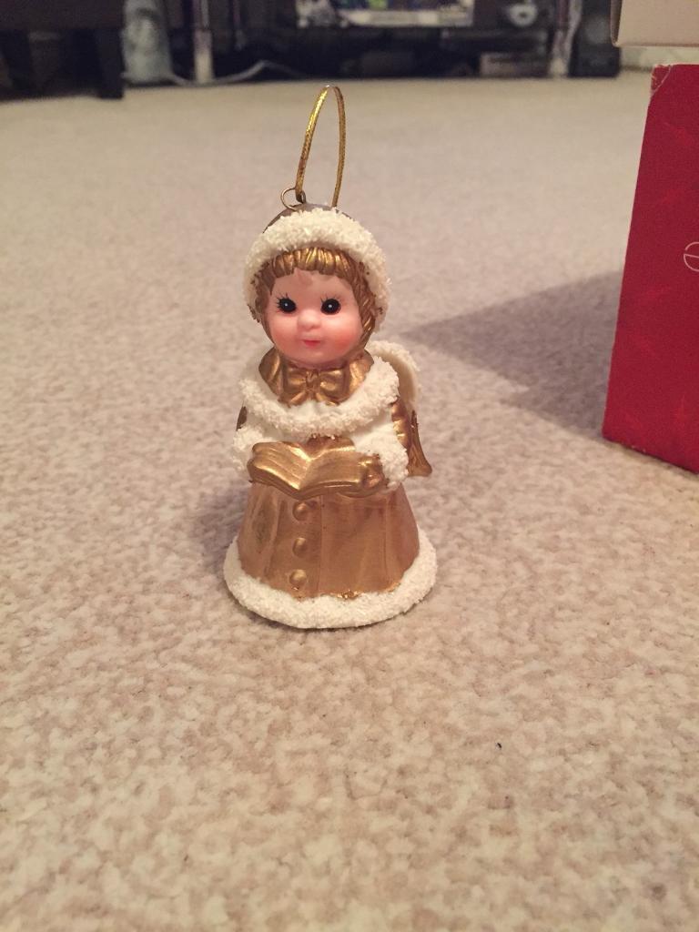 Angel bell Christmas ornament