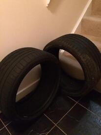 2 Bridgestone Potenza S001 245/35R18 Partially worn Run Flat Tyres for Sale.