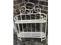 Lovely shabby chic style metal shelving shelf bathroom? Collection old catton nr6