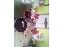 5 Piece Ashton Fusion Drum Kit Need Gone ASAP