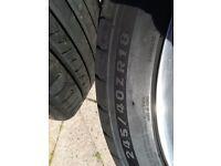 18 inch monoblock alloys. Polished. Mercedes originals