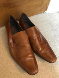 Men's Jeffery West brown leather shoes