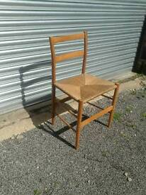 Bedroom chair with rush seat
