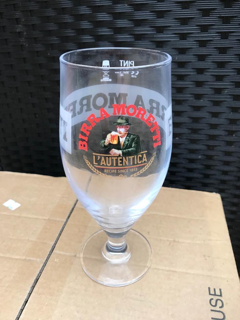 24 Birra Moretti Pint Glasses