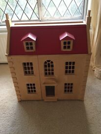 Beautiful Wooden Doll's House