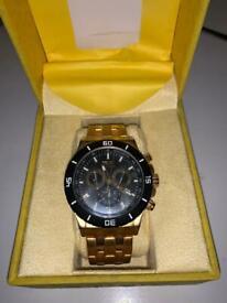 Invicta 0392 gold watch