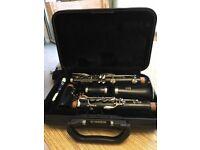 Yamaha 250 clarinet and case
