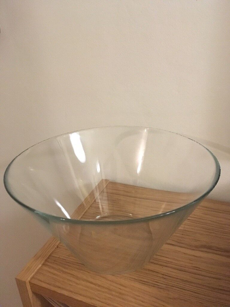 Two Glass Serving Bowls