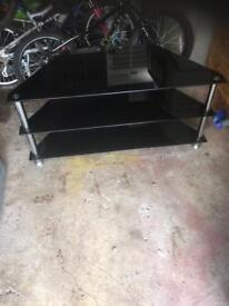 Black glass tele stand forsale £20 pick up only Newcastle