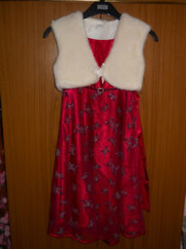 Girl's Party Dress with Waistcoat
