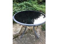 Garden table - Modern Black Glass RRP £200