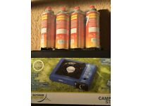( New ) Camping Stove and 3nx butane gas