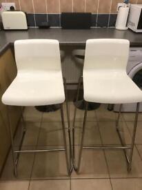 Ikea GLENN Bar stools white