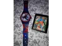 Spiderman Wall Clock Spiderman 3D Picture