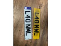 L40 nml private cherished personal personalised registration plate number