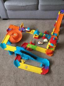 Toot toot vtech train set with additional car ramp