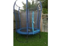 4ft trampoline with enclosure