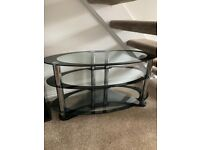 Glass TV stand for up to 50 inch TV