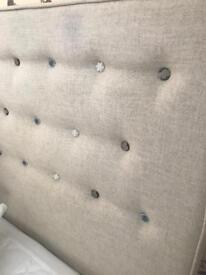 Loaf upholstered bed king size